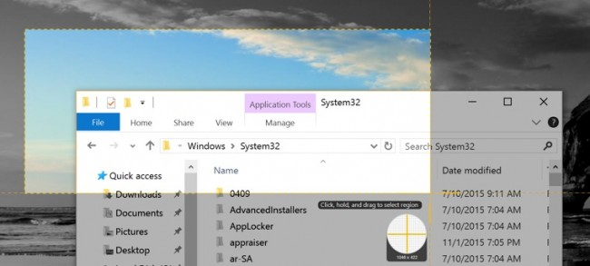 Take Screen-shots in Windows 10
