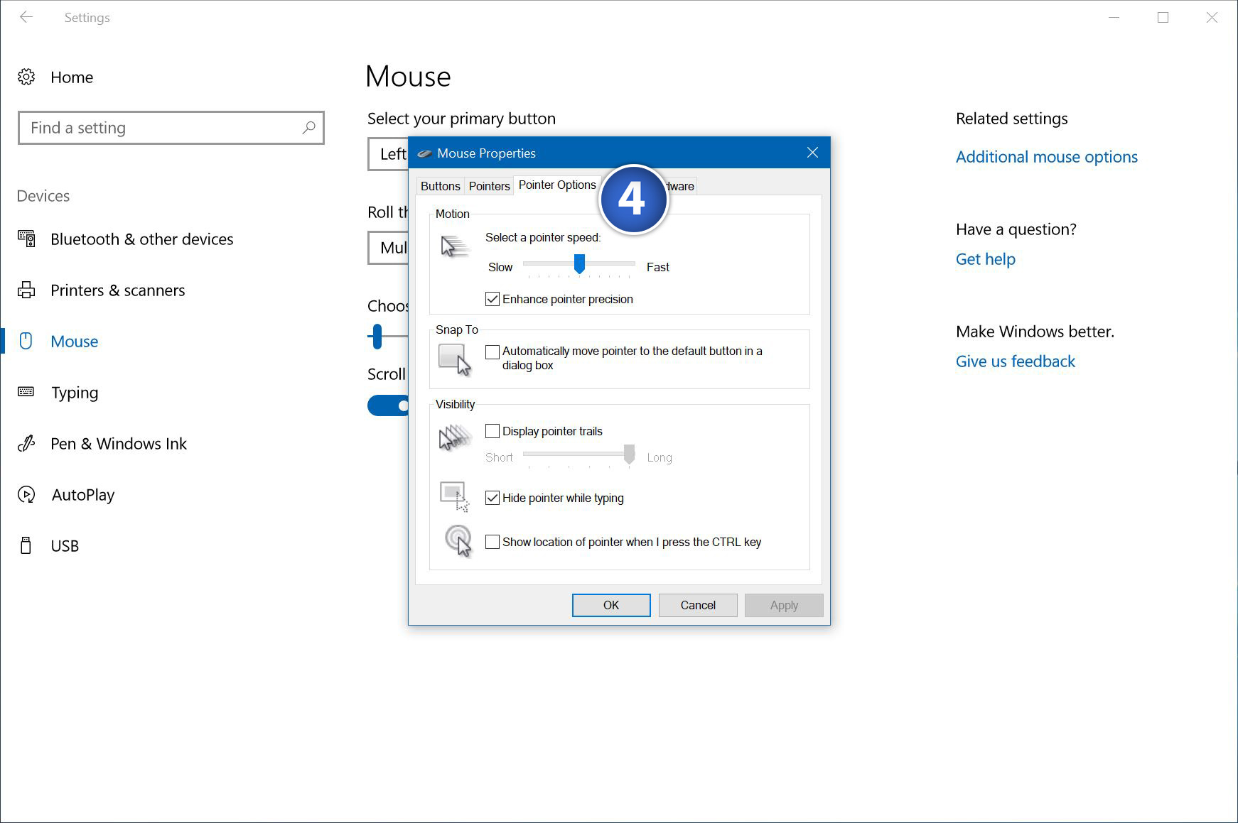 how to take screenshot with mouse pointer in windows 10