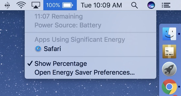 mac battery time remaining