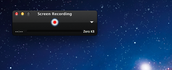 screen recording with QuickTime Player