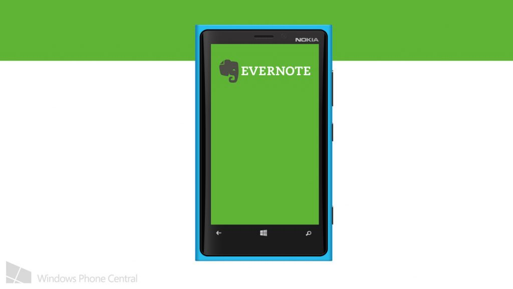 Windows phone is out from Evernote