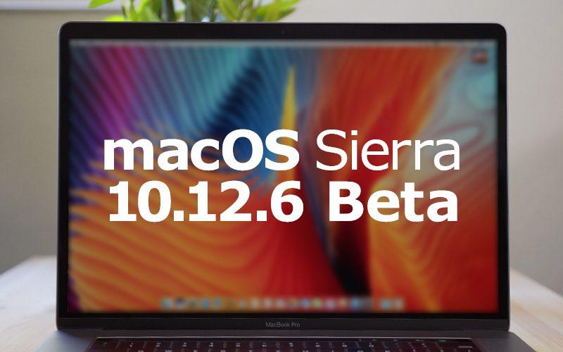 macOS 10.12.6 beta 6